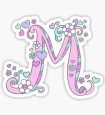 decorative letter m drawing stickers redbubble