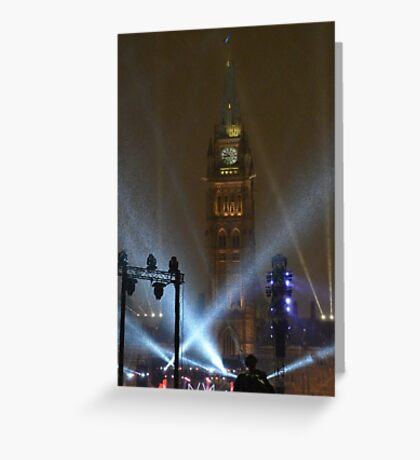 New Years Eve, Parliament Hill, Ottawa, Canada 2017 Greeting Card