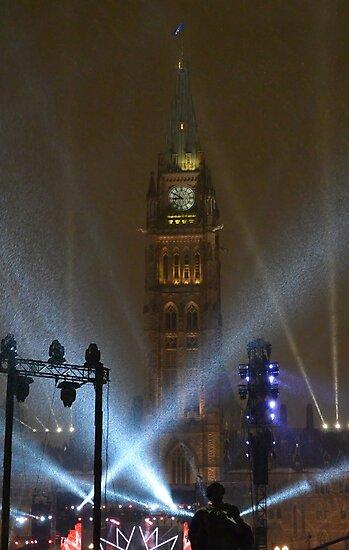 New Years Eve, Parliament Hill, Ottawa, Canada 2017 by Jim Cumming