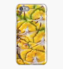 Macro textured background of pineapple iPhone Case/Skin