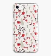 Red Vintage Floral Pattern iPhone Case/Skin