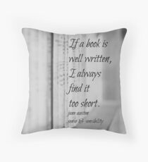 Jane Austen Book Throw Pillow