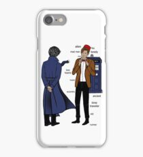 Sherlock meets the Doctor iPhone Case/Skin