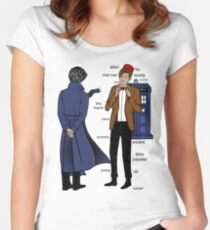 Sherlock meets the Doctor Women's Fitted Scoop T-Shirt