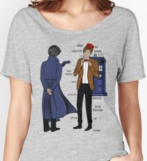 Sherlock meets the Doctor Women's Relaxed Fit T-Shirt