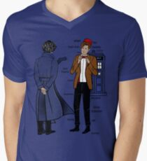 Sherlock meets the Doctor Men's V-Neck T-Shirt