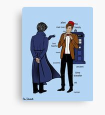 Sherlock meets the Doctor Canvas Print