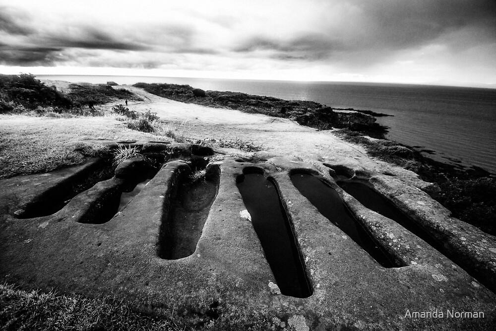 Stone Coffins in Heysham by Amanda Norman