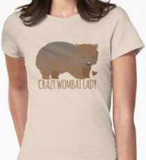 Crazy wombat lady Women's Fitted T-Shirt