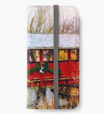 Gardner Village - Christmas Bridge iPhone Wallet/Case/Skin