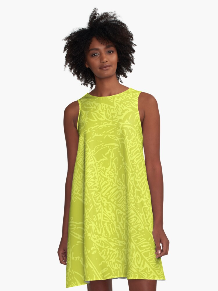 Croton - Yellow A-Line Dress Front