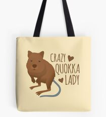 Crazy Quokka lady Tote Bag