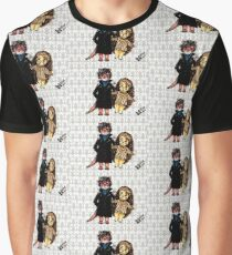 Otter Holmes & Hedgehog Watson Graphic T-Shirt