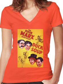 The Marx Brothers - Duck Soup Women's Fitted V-Neck T-Shirt