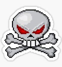 8 bit skull? Sticker