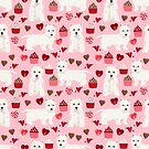 Westie west highland terrier dog breed valentines day cute dog person must have gifts pet portraits by PetFriendly by PetFriendly