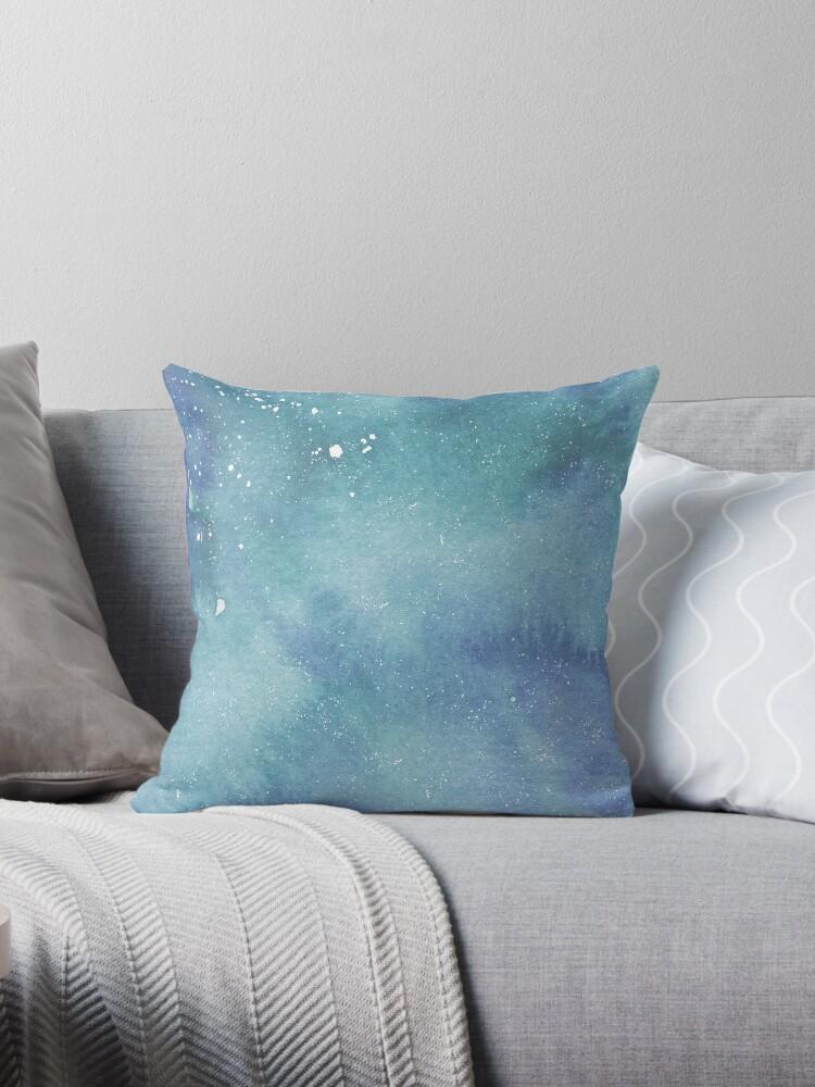 Watercolor Ocean Paint Splatter Pattern by Rumpleshite