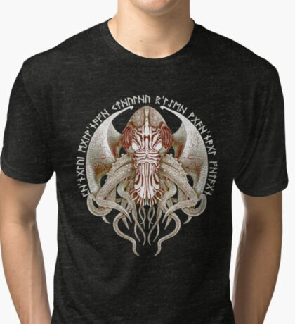 Cthulhu Got Wings Steampunk T-Shirts Tri-blend T-Shirt