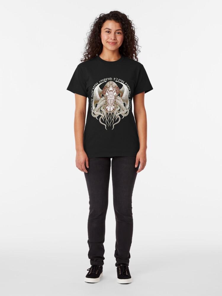 Alternate view of Cthulhu Got Wings Steampunk T-Shirts Classic T-Shirt