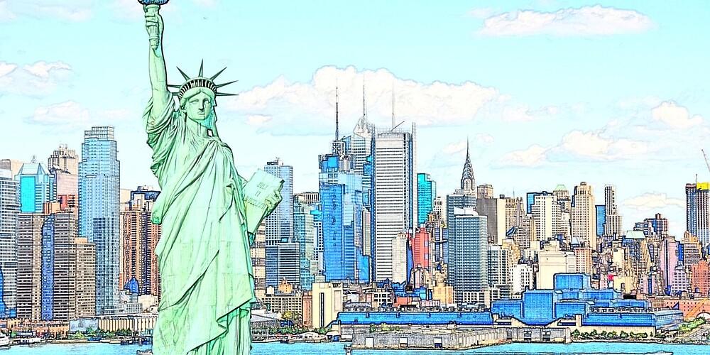 New York Illustration by plinuxx
