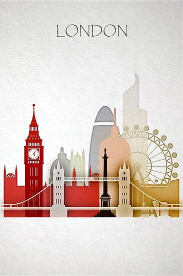 London skyline,England cityscape,London accessories      by DimDom