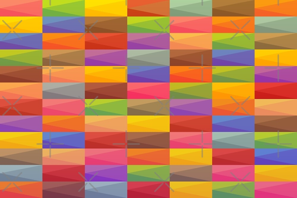 Colorful rectangle modern art by pixxart