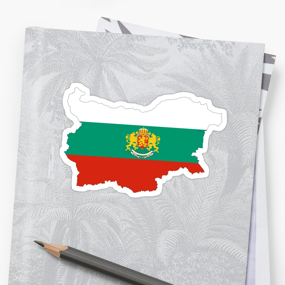 Bulgaria Flag Map with Coat of Arms by limitlezz