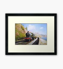 On the sea wall at Dawlish Framed Print