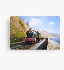On the sea wall at Dawlish Canvas Print