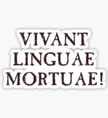 Long Live Dead Languages - Latin Sticker