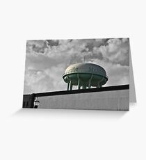 Water Tower or a UFO Greeting Card