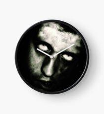 Male Zombie Portrait by Amanda Norman Clock