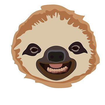 Cute Smiling Sloth by dmayr