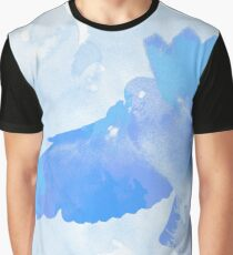 The flight of a blue dove Graphic T-Shirt