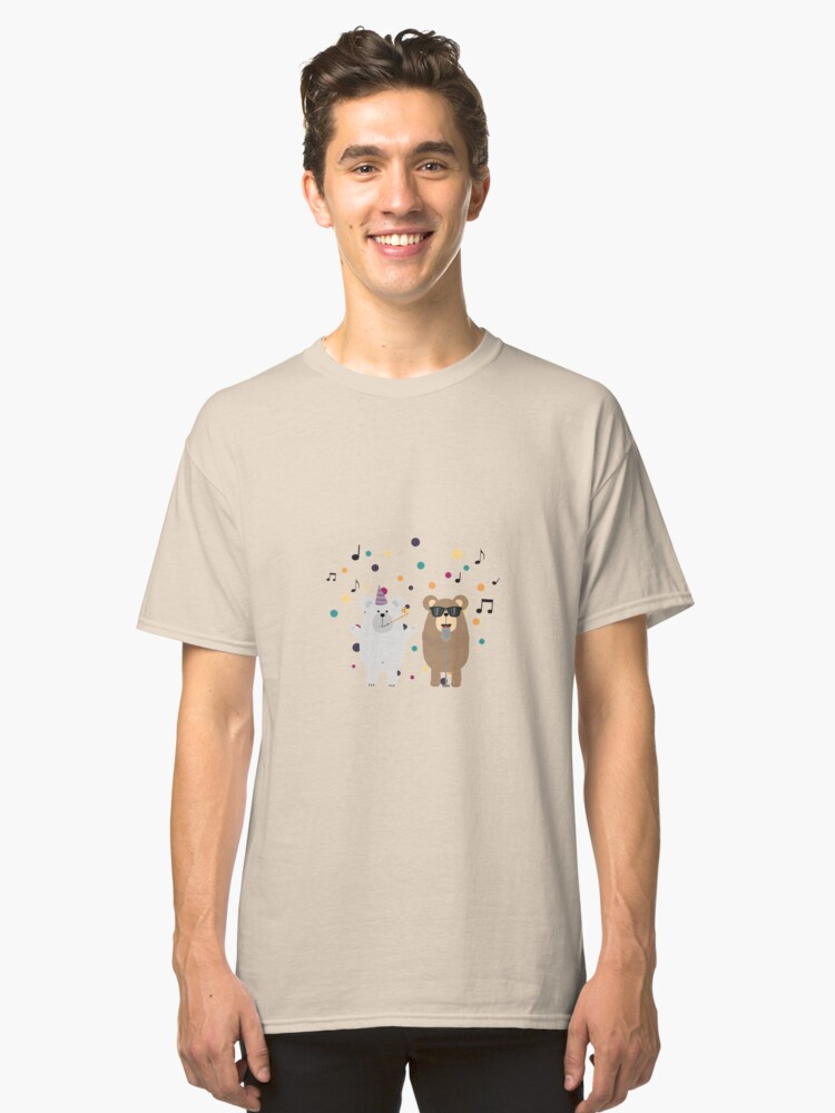 Party Bears singing Classic T-Shirt Front