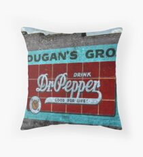 Dr Pepper Mural Throw Pillow