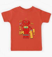 Retro Robot 1st Birthday Party Kids Tee