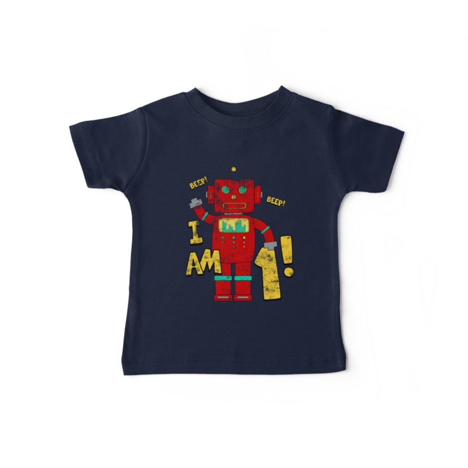 Retro Robot 1st Birthday Party by superpartytees