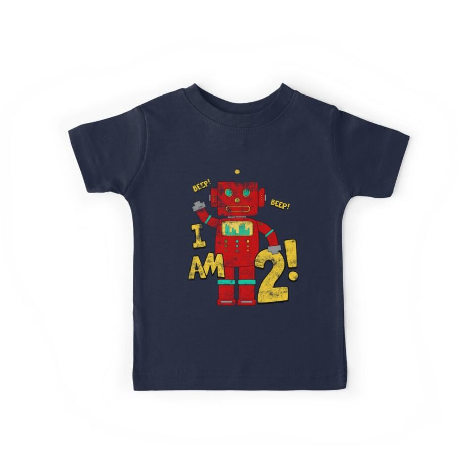 Retro Robot 2nd Birthday Party by superpartytees