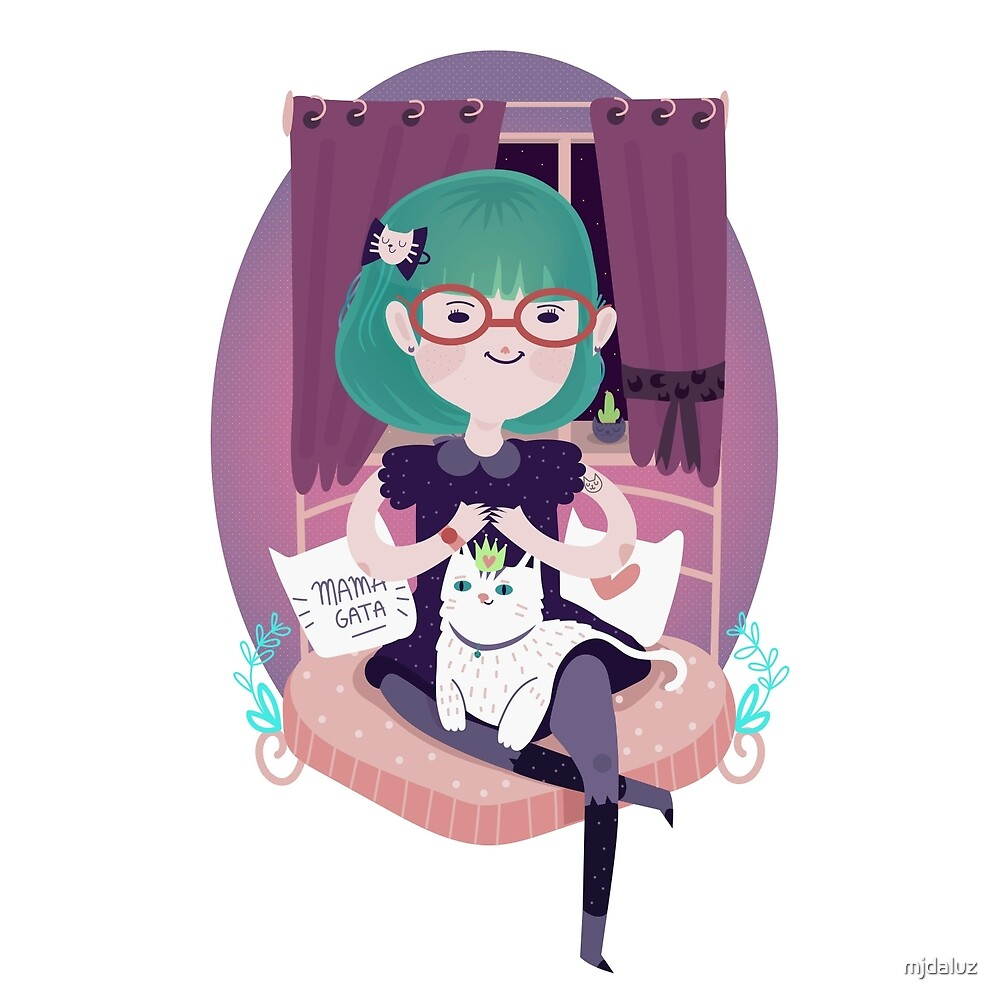 Cat lady by mjdaluz