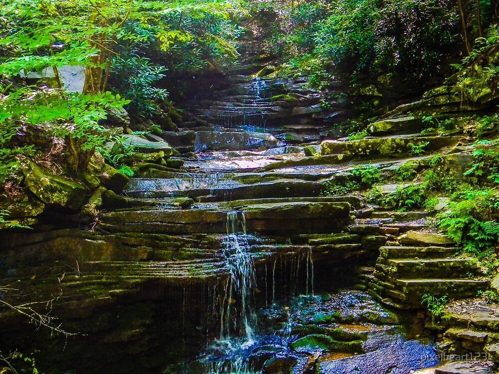 tiny waterfall by pixelheart123