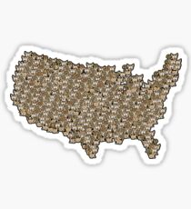 CATography- USA (black) Sticker