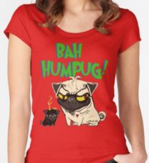 bah humpug Women's Fitted Scoop T-Shirt