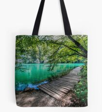 Aqua Blue Lakes of Plitvice Tote Bag