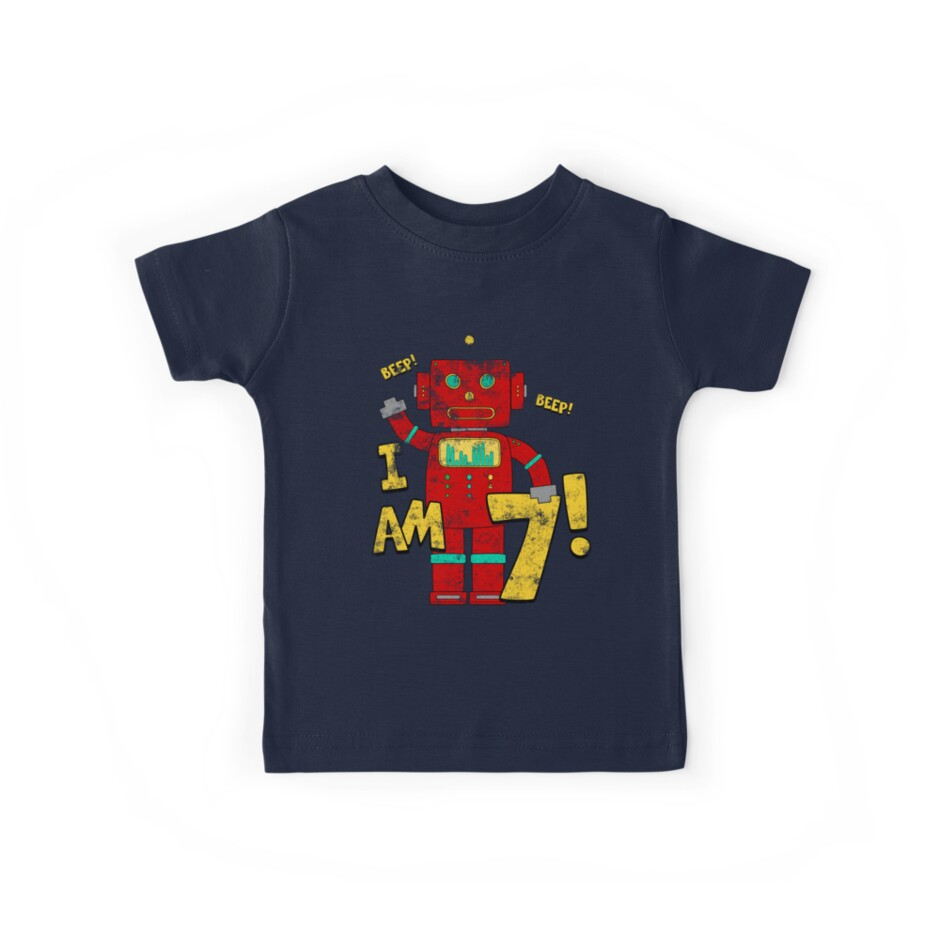 Retro Robot 7th Birthday Party by superpartytees