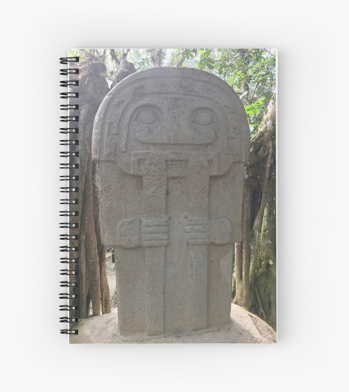 Colombia - San Agustin - stone god with poles in hands by renprovo
