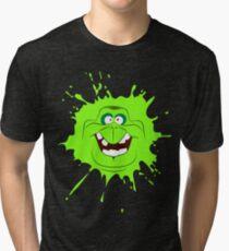 Cartoon style slimer (Ghostbusters) Tri-blend T-Shirt