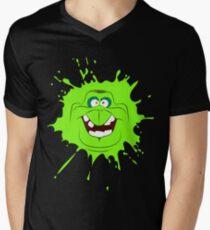 Cartoon style slimer (Ghostbusters) Men's V-Neck T-Shirt