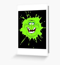 Cartoon style slimer (Ghostbusters) Greeting Card