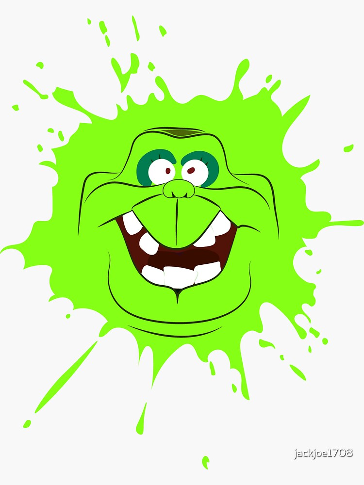 Cartoon Style Slimer Ghostbusters Sticker By Jackjoe1708 Redbubble
